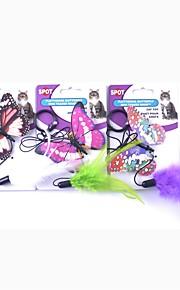 kot zwierzęta zabawki zapowiedź pet przyjacielski piskliwy / piszczący motyl piękny kolorowy kauczuk dla zwierząt domowych