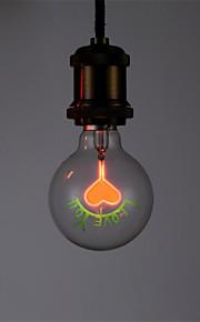 1pc 1.5 W E26/E27 G80 Varm hvid 2300 K Kontor/Business Dekorativ Glødende Vintage Edison lyspære Vekselstrøm 220-240 V