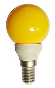 1pc 0.5W E14 LED-globepærer G45 7 LED Dyp Led Dekorativ Gul 15-25lm 000K AC100-240V