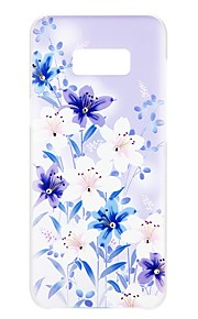 Etui Til Samsung Galaxy S8 Plus S8 S7 edge S7 Rhinsten Præget Mønster Bagcover Blomst Hårdt PC for S8 Plus S8 S7 edge S7 S6 edge plus S6