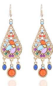 Damskie Kolczyki wiszące Multi-kamień Artystyczny Ponadgabarytowych Stop Kropla Biżuteria Prezent Party Wieczór Biżuteria kostiumowa