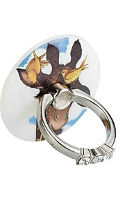 Round diamond series - Phone ring 360 degree rotation - Bird deer    material Metal and ABS