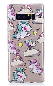 hoesje Voor Samsung Galaxy Note 8 Patroon Achterkantje Eenhoorn Zacht TPU voor Note 8