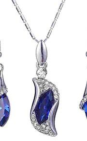 Dame Dråbeøreringe Halskæde Krystal Klassisk Mode Elegant Forlovelse Ceremoni Krystal Legering 1 Halskæde Øreringe