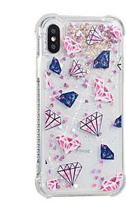 hoesje Voor Apple iPhone X iPhone 8 Plus Stromende vloeistof Patroon Achterkant Tegel Glitterglans Zacht TPU voor iPhone 8 Plus iPhone 8