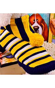 Kat Hund Sweaters Hundetøj nyt Afslappet/Hverdag Stribet Gul Rød Kostume For kæledyr