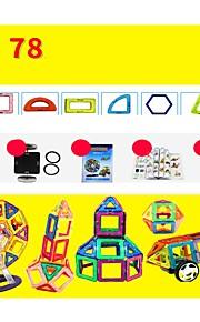 마그네틱 블록 장난감 건설차량 비행기 장난감 라운드 광장 전사 차 건축 운송기기 변형 가능 부모 - 자녀 상호 작용 소프트 플라스틱 메탈 합금 아이 78 조각