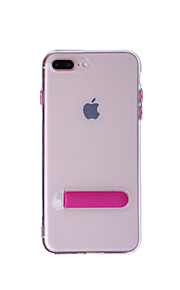 hoesje Voor Apple iPhone 8 iPhone 8 Plus met standaard Volledig hoesje Effen Kleur Zacht TPU voor iPhone 8 Plus iPhone 8