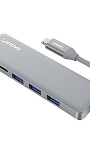 lenovo hub USB 3.0 typ c adapter karta tf, USB 3.0 typ c na USB 3.0 typ c adapter rj45 karta tf męski - żeński 4k * 2k 5.0 gbps