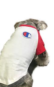 Kat Hund T-shirt Hundetøj Japan og Korea Stil Afslappet/Hverdag Farveblok Sort Rød Kostume For kæledyr