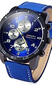 JUBAOLI Homens Quartzo Relógio de Pulso Chinês Mostrador Grande Aço Inoxidável Banda Legal Preta Azul Vermelho
