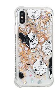 hoesje Voor Apple iPhone X iPhone 8 Plus Stromende vloeistof Patroon Achterkant Hond Zacht TPU voor iPhone 8 Plus iPhone 8