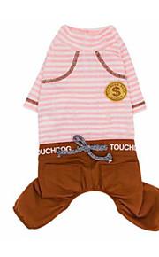 犬 Tシャツ 犬用ウェア カジュアル/普段着 ストラップ柄 ブルー ピンク コスチューム ペット用