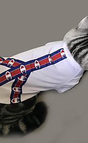 ネコ 犬 Tシャツ 犬用ウェア カジュアル/普段着 ソリッド パターン柄 ホワイト コスチューム ペット用