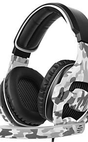 SADES SA-810 머리띠 유선 헤드폰 동적 플라스틱 게임 이어폰 마이크 포함 헤드폰