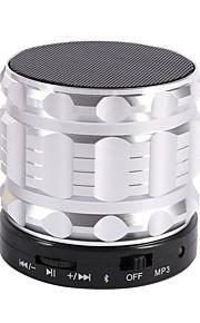 S28-S Bluetooth högtalare Bluetooth 2.0 TF-Kortplats Bokhyllehögtalare Svart Silver Röd