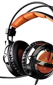 SADES A6 머리띠 유선 헤드폰 동적 플라스틱 게임 이어폰 마이크 포함 헤드폰