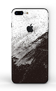 1 pc Skin Sticker for Scratch Proof Black & White Pattern PVC iPhone 8 Plus