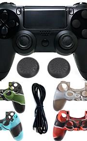 drahtloser Bluetooth-Spielsteuerpult Gamepad Steuerpultsteuerknüppel Gamepads mit Silikonkasten für ps4