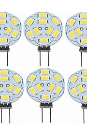 SENCART 6pcs 2W 360 lm G4 LED-lamper med G-sokkel T 9 leds SMD 5730 Dekorativ Varm hvit 12V