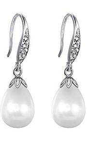 Damskie Kolczyki wiszące Cyrkonia Pearl imitacja Modny Europejski Cyrkon Stop Kropla Biżuteria Impreza Impreza / bal Biżuteria kostiumowa