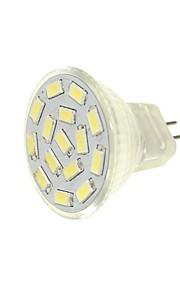SENCART 1pc 6pcs 6W 450 lm G4 MR11 LED-spotpærer MR11 15 leds SMD 5630 Dekorativ Varm hvit Hvit Grønn Gul Blå 12-24V