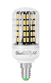YouOKLight 1pc 7W 560 lm E12 LED-kornpærer 108 leds SMD 5733 Dekorativ Varm hvit 110-130V