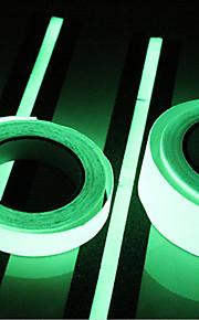 1pc Tape LED Night Light Grønn Kuttbar Hjemmesikkerhet Dekorasjon Verneutstyr