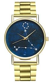 Homens Mulheres Único Criativo relógio Relógio de Moda Chinês Quartzo Cronógrafo Relógio Casual Aço Inoxidável Banda Colorido Dourada