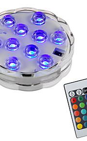 BRELONG® 1pç 2W Lâmpada Subaquática Controlado remotamente Impermeável Decorativa Piscina RGB 5.5V