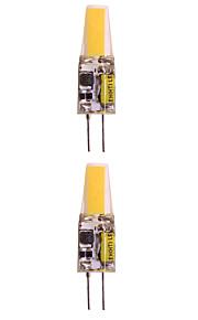 WeiXuan 6pcs 2W 160lm lm G4 LED-lamper med G-sokkel T 1pcs leds COB Varm hvit Kjølig hvit 12V