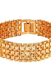 Herre Dame Kæde & Lænkearmbånd Mode Plastik Guld Sølv Smykker Daglig Kostume smykker