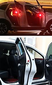 2pcs LED Night Light Rød Automatisk bryter Verneutstyr Nødsituasjon LED-bilpærer Bil Dekorasjon Dørlampe