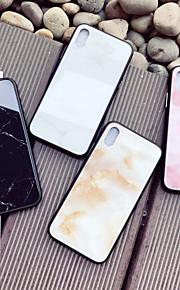 Kılıf Na Jabłko iPhone X / iPhone 8 Wzór Osłona tylna Marmur Twardość Szkło hartowane na iPhone X / iPhone 8 Plus / iPhone 8