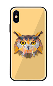Case For Apple iPhone X iPhone 8 Pattern Back Cover Owl Hard Tempered Glass for iPhone X iPhone 8 Plus iPhone 8 iPhone 7 iPhone 6s Plus