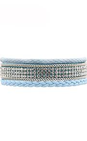 Dame Læder Armbånd Afslappet Mode Læder Blå Lys pink Uregelmæssig Smykker Gave Daglig Kostume smykker