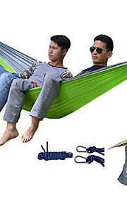 DesertFox® Camping Hammock Outdoor Wearable, Travel High Density Ripstop for Hiking / Camping - 2 person Dark Blue / Fuchsia / Coffee