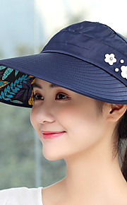 Cap Summer Portable folding / UV resistant / Breathability Hiking / Outdoor Exercise / Traveling Women's Polyester / Cotton Solid Colored