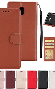 Case For Samsung Galaxy A7(2016) A5(2017) Card Holder Wallet with Stand Flip Full Body Cases Solid Colored Hard PU Leather for A3(2017)
