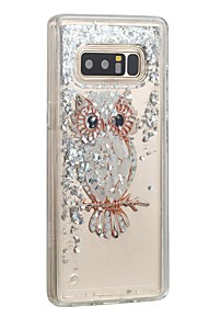 Case For Samsung Galaxy Note 8 Flowing Liquid Back Cover Glitter Shine Owl Hard PC for Note 8