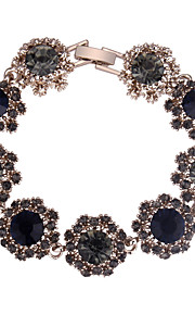 Damskie Długa Bransoletka - Kwiat Europejski, Modny, Elegancja Bransoletki Dark Blue / Gray / Purple Na Impreza