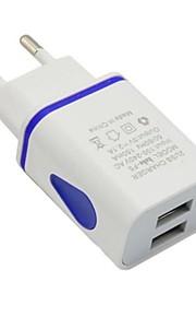 Portable Charger USB Charger EU Plug Multi-Output 2 USB Ports 2.1 A 100~240 V