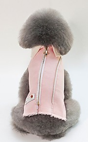 Dogs / Cats Jacket Dog Clothes Character / British Blue / Pink Cotton Costume For Pets Unisex Warm Ups / Simple Style