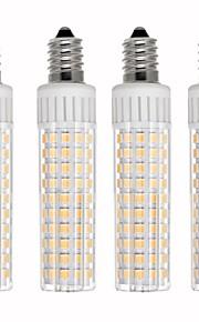4pcs 8.5 W 1105 lm E14 Bombillas LED de Mazorca T 125 Cuentas LED SMD 2835 Regulable Blanco Cálido / Blanco Fresco 110 V