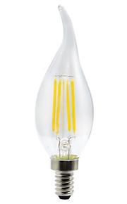 YWXLIGHT® 1pc 4 W 300-400 lm E12 LED-bollampen / LED-gloeilampen 4 LED-kralen SMD Creatief Warm wit / Koel wit 110-130 V