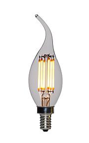 10 stuks 2 W 120 lm E12 / E14 LED-kaarslampen C35L 2 LED-kralen Krachtige LED Warm wit 110-130 V / 200-240 V