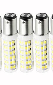 5 pezzi 4.5 W 450 lm BA15D LED a pannocchia T 76 Perline LED SMD 2835 Oscurabile Bianco caldo / Luce fredda 110 V