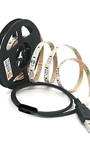 ZDM® 1m Strisce luminose LED flessibili 60 LED 2835 SMD Bianco caldo / Luce fredda USB / Collagabile / Adatto per veicoli 5 V / Alimentazione USB 1pc