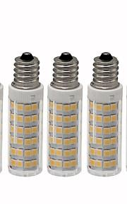 5 pezzi 4.5 W 450 lm E12 LED a pannocchia T 76 Perline LED SMD 2835 Oscurabile Bianco caldo / Luce fredda 220 V