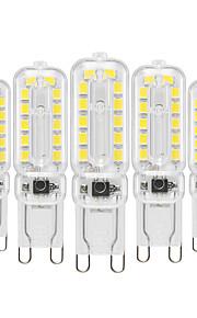 YWXLIGHT® 5 stuks 6 W 400-600 lm G9 2-pins LED-lampen T 24 LED-kralen SMD 2835 Dimbaar Warm wit / Koel wit / Natuurlijk wit 220-240 V